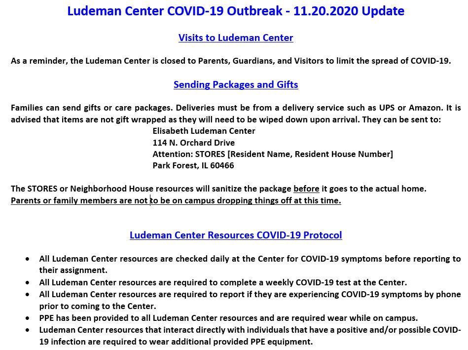 ELDC COVID-19 Outbreak 11.20.2020